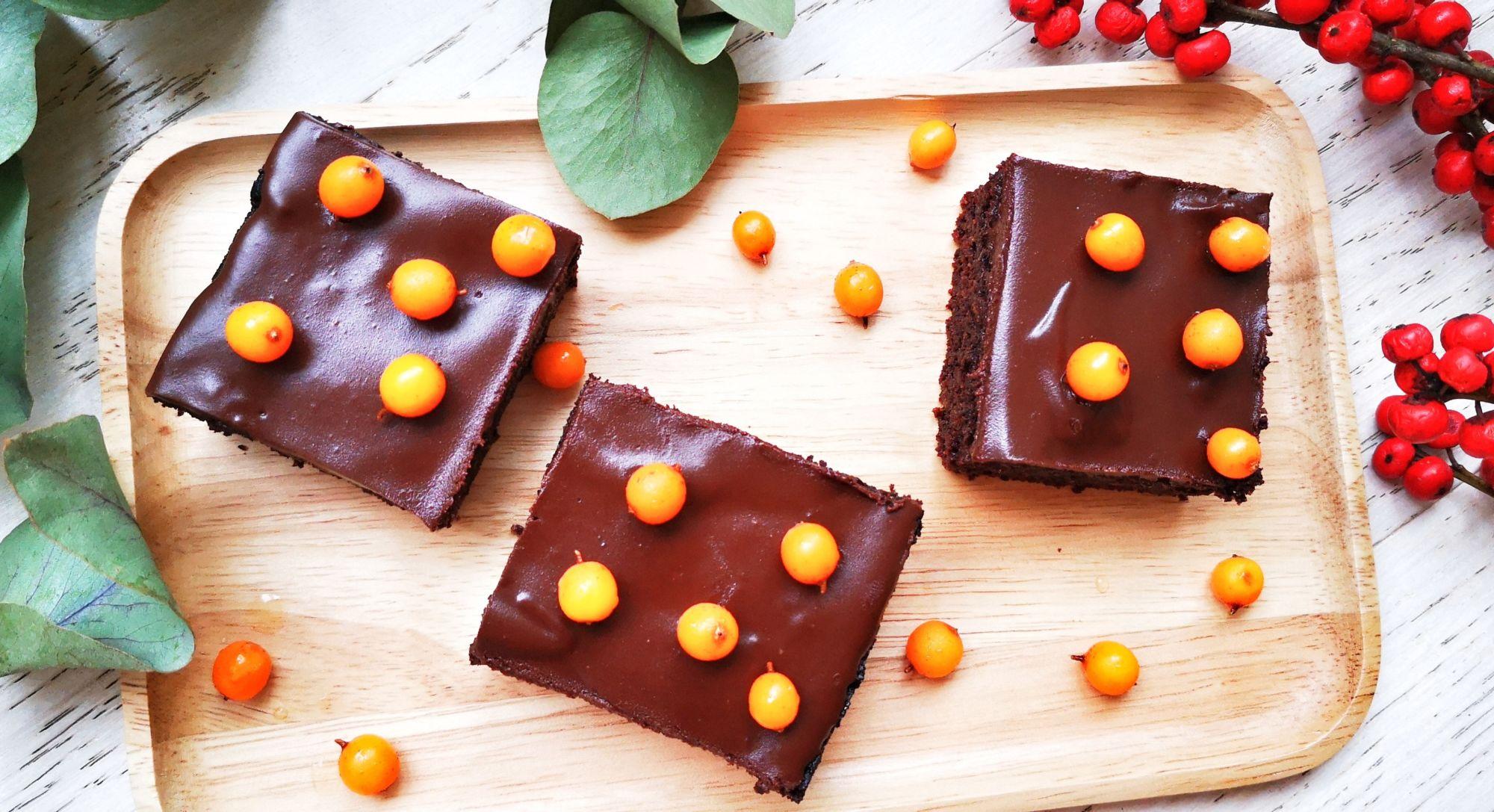 Bezlepkový brownie zčervené řepy nastránce zdravá volba